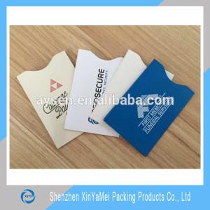 RFID card aluminium foil paper rfid credit card holder
