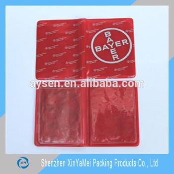 Пользовательских подарочные полноцветный печатные пвх oyster карт держатель