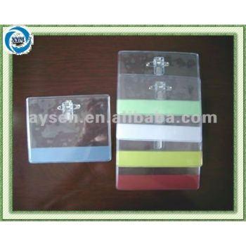 transparenter PVC-Abzeichenhalter