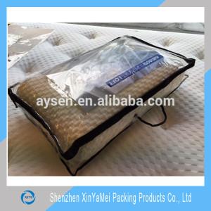 clear pvc blanket packaging bag/pillow packaging bag