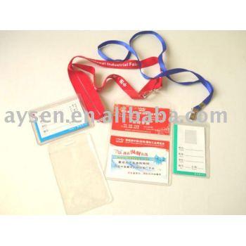 Caso de la tarjeta de plástico transparente