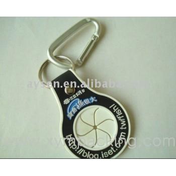 Moda fresca de plástico pvc key chain
