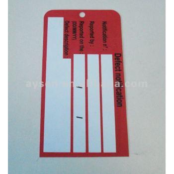 Pvc/pp caucho etiquetas de equipaje