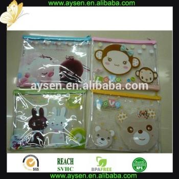 プラスチックpvcメッシュジッパー袋