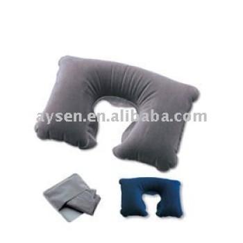 En forma de u inflable camping pillow