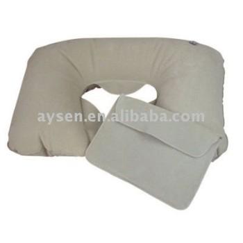 En forma de u inflable body pillow