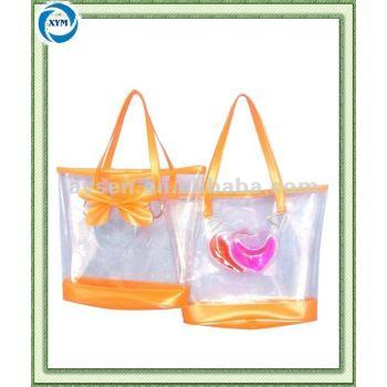 Pvc moda playa bolsa mano