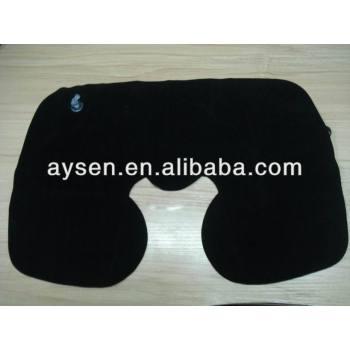Buen quanlity de pvc en forma de u almohada de viaje inflable pillow