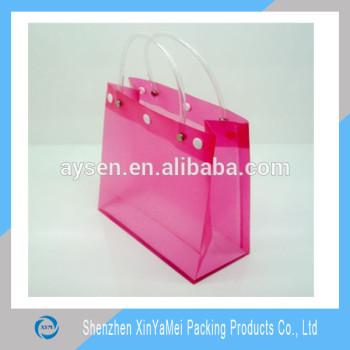 Nueva llegada de moda de plástico pvc transparente bolsa de playa al por mayor