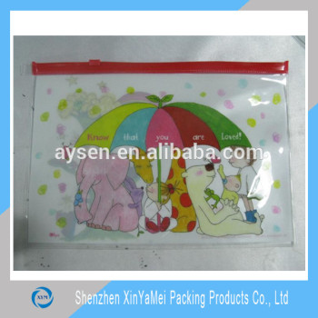 Clear plastic zipper pvc pouch