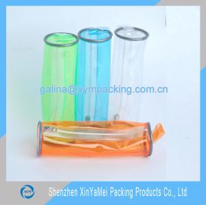 clear PVC zipper bag for pencil