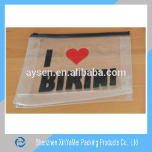 pvc /eva zipper bikini packaging bag