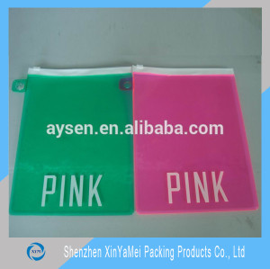 vinyl pvc zipper bag