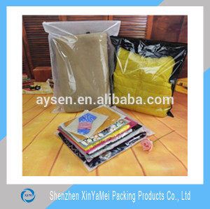Waterproof & dustproof Clear PVC packing bag for clothing