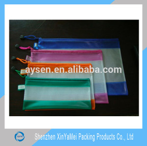 PVC Mesh Bags PVC Zippered Envelope Organization Storage Pouch Bags