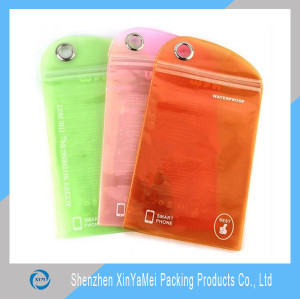 Accept Custom Order And Printing Logo Clear PVC Zipper Bag For Phone Case