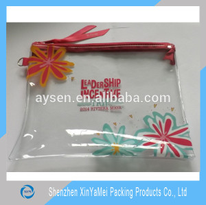 fancy custom pvc pencil bag with canvas zipper