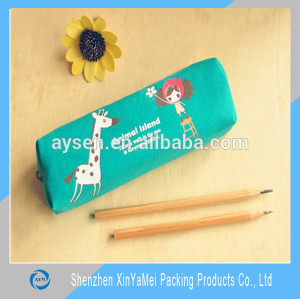 fashionable funny transparent stand up zip pencil case