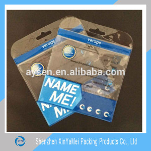Top quality heat seal transparent euro slot pvc bag