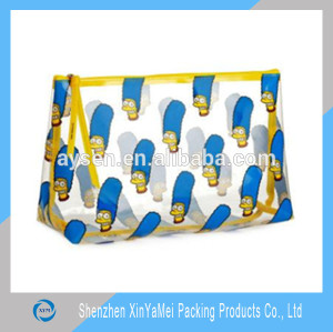 wholesale clear vinyl pvc zipper cosmetic bags