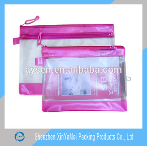 PVC Plastic Bags Use pvc transparent zipper