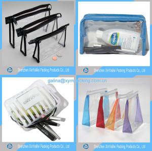 clear pvc travel cosmetic bag