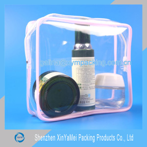 clear pvc plastic bag for cosmetic