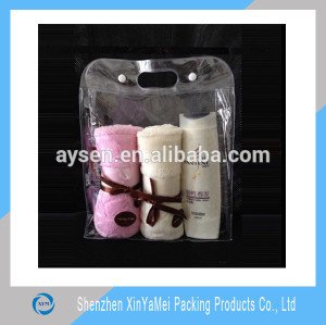 clear pvc plastic bag with snap button
