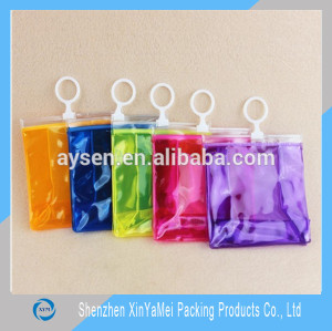 Wholesale transparent waterproof promotional toiletry bag make up clear pvc bag for cosmetic