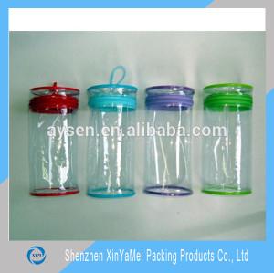 top quality clear pvc transparent vinyl cosmetic bag/pouch