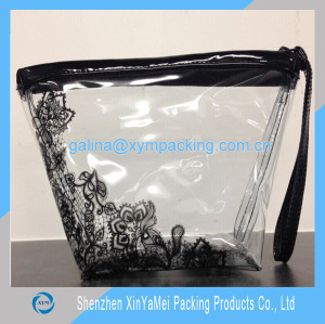 clear pvc bags for cosmetic packaging