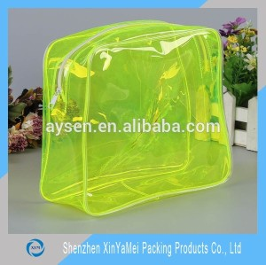 Clear PVC cosmetic bag packaging