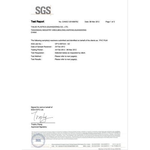 EN71 Test Report