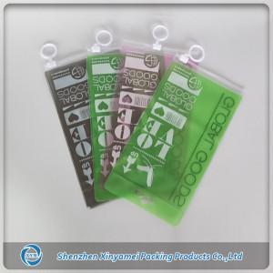 pvc zipper lock bag for mobile phone accessory