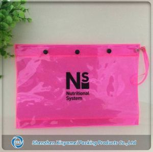 soft pvc/eva flap snap buttons clear pvc bag for girls
