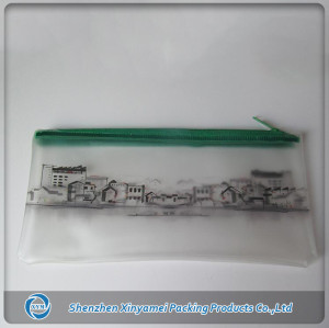 unique customized transparent EVA PVC plastic zipper bag