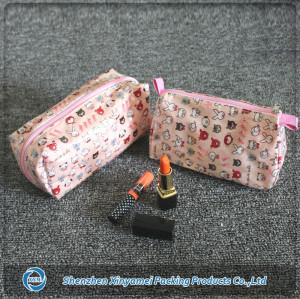 Modella travelling plastic beautiful cosmetic bag