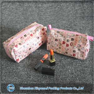 Modella travelling plastic beautiful cosmetic bag
