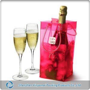 Fluorescent Roseo Cool PVC Wine Bag for Ice Wine Bottle