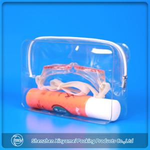 PVC Material and Bag Type expandable plastic mesh PVC vinyl zipper make up pouch