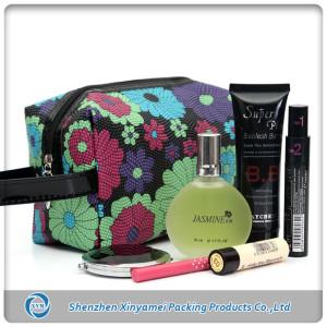 custom reusable travel cosmetic bag packaging