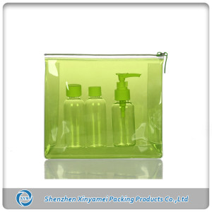 clear pvc bag for cosmetic gift packing supplied by china factory