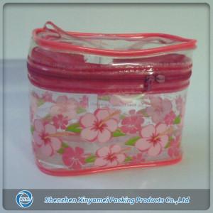 Wholesale protable women's promotional pvc cosmetic bag