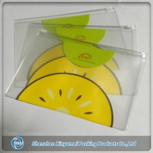 PVC pouch with zipper & logo