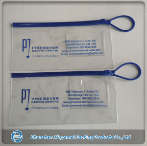clear pvc pouch with zipper and handle