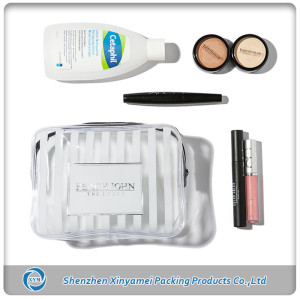 printed transparent pvc cosmetic bags with zipper