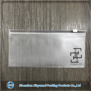 frosted clear pvc pouch with slider lock