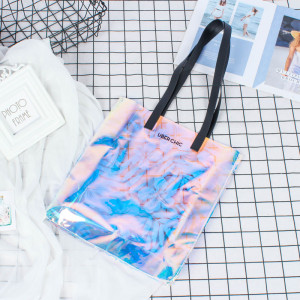 Fashion Translucent Hologram PVC Shoulder Tote bag