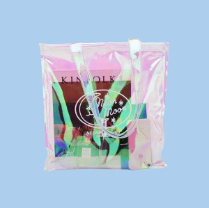 Fashion Translucent PVC Shoulder Tote bag