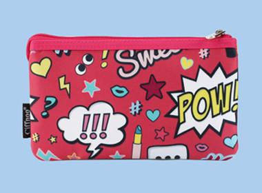 Custom Pink pvc zipper bag